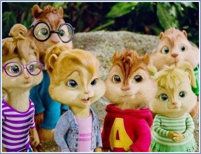 Alvin ve sevimli sincap arkadaşları geri dönüyor lüks bir mavi